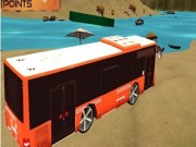Beach Bus Driving : Water Surface Bus Game