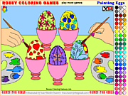 Painting Eggs - Rossy Coloring Games