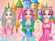 Princesses Rainbow Unicorn Hair Salon