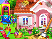 Sweet Home Cleaning : Princess House Cleanup Game